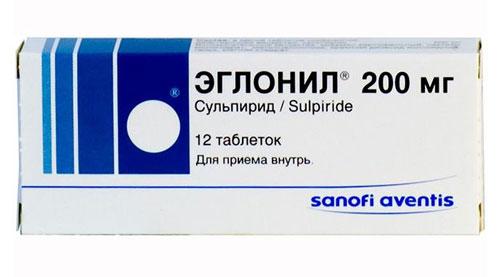Эглонил (сульпирид) в таблетках