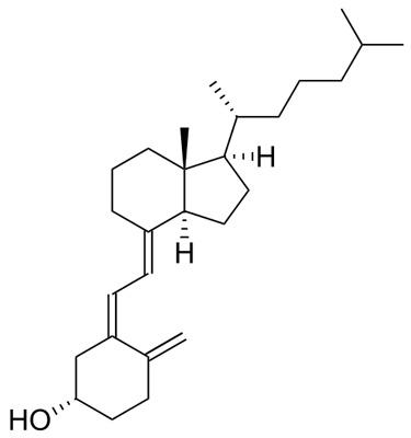Структура молекулы колекальциферола