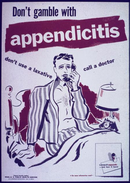 Не играйте с аппендицитом! Не пейте слабительные. Вызывайте врача