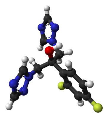 Структура молекулы флуконазола