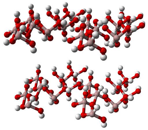 Кристаллическая форма гиббсита или гидраргиллита - минеральной формы алюминия гидроксида