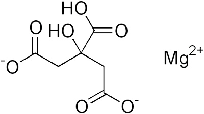 Структура молекулы магния цитрата