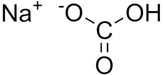 Химическая структура натрия бикарбоната