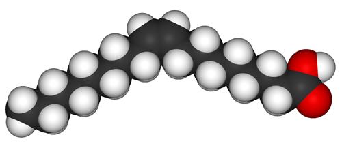 Структура молекулы олеиновой кислоты