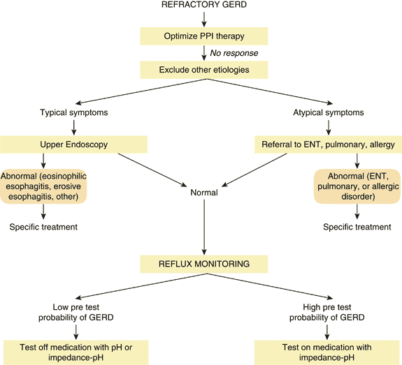Figure 1. Algorithm for the evaluation of refractory gastroesophageal reflux disease (GERD)