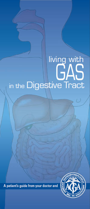 Брошюра Американской гастроэнтерологической ассоциации Living with gas in the Digestive tract