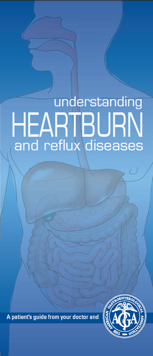 Брошюра Американской гастроэнтерологической ассоциации Understanding heartburn and reflux diseases