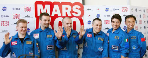 The crew of the Expedition Mars-500